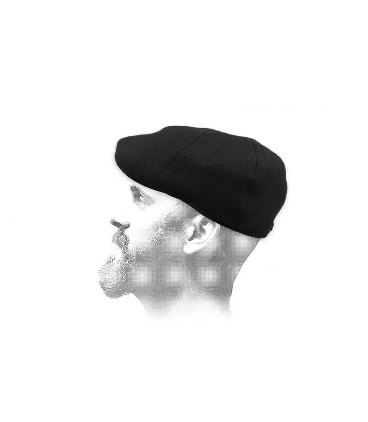 Duckbill Cap schwarz Wolle