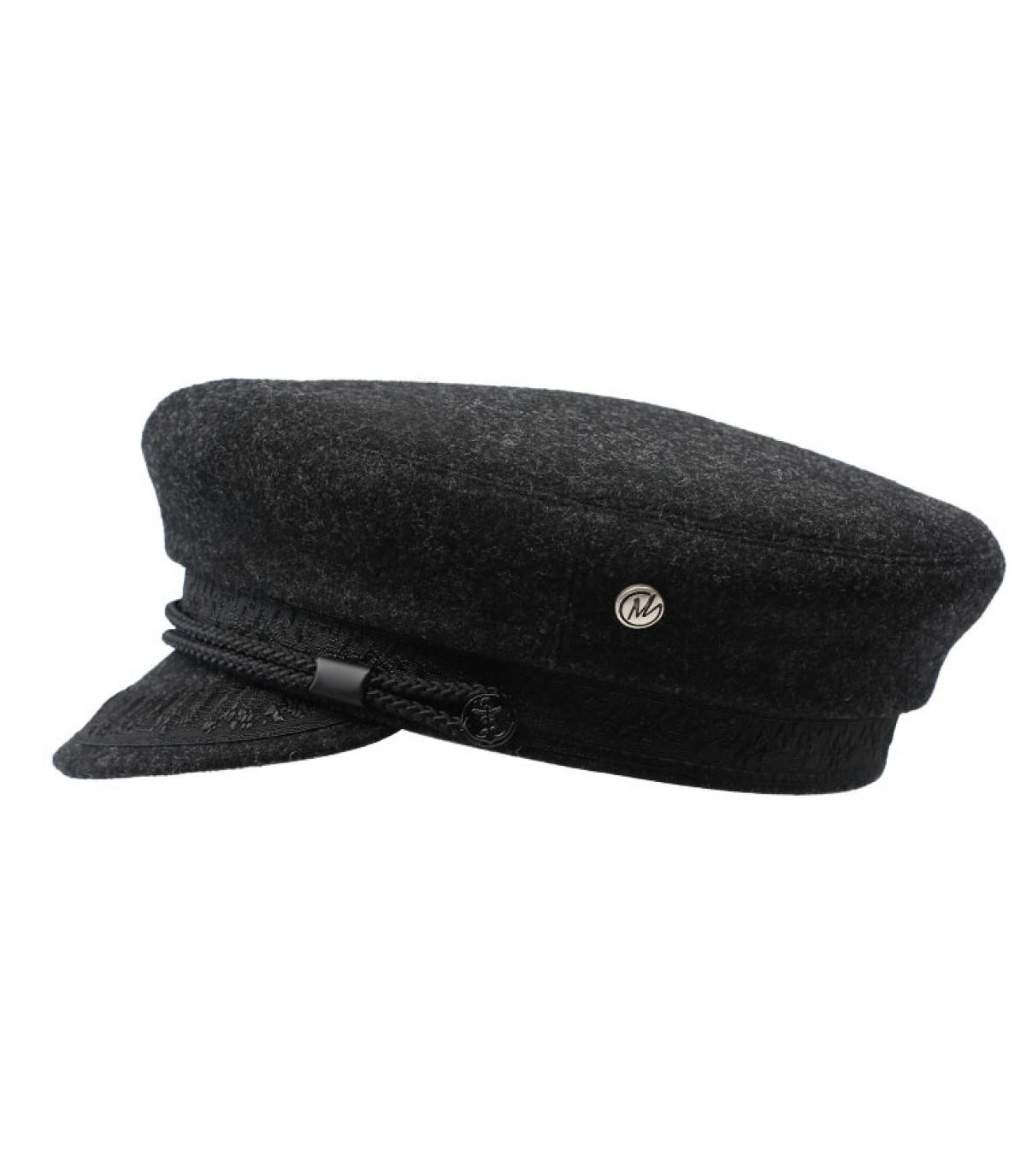 Seemanns Cap grau Wolle
