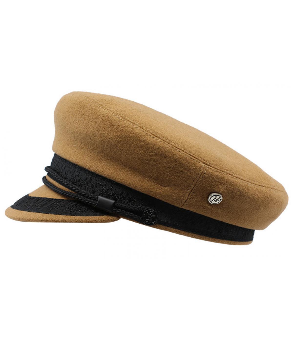 Seemanns Cap beige Wolle