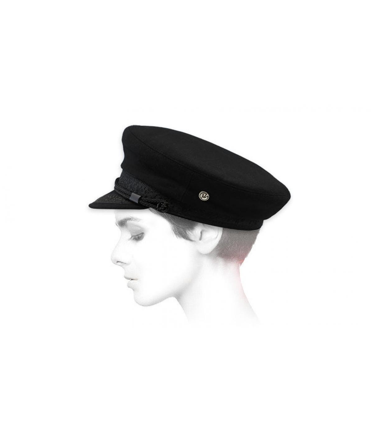 Seemanns Cap schwarz Wolle