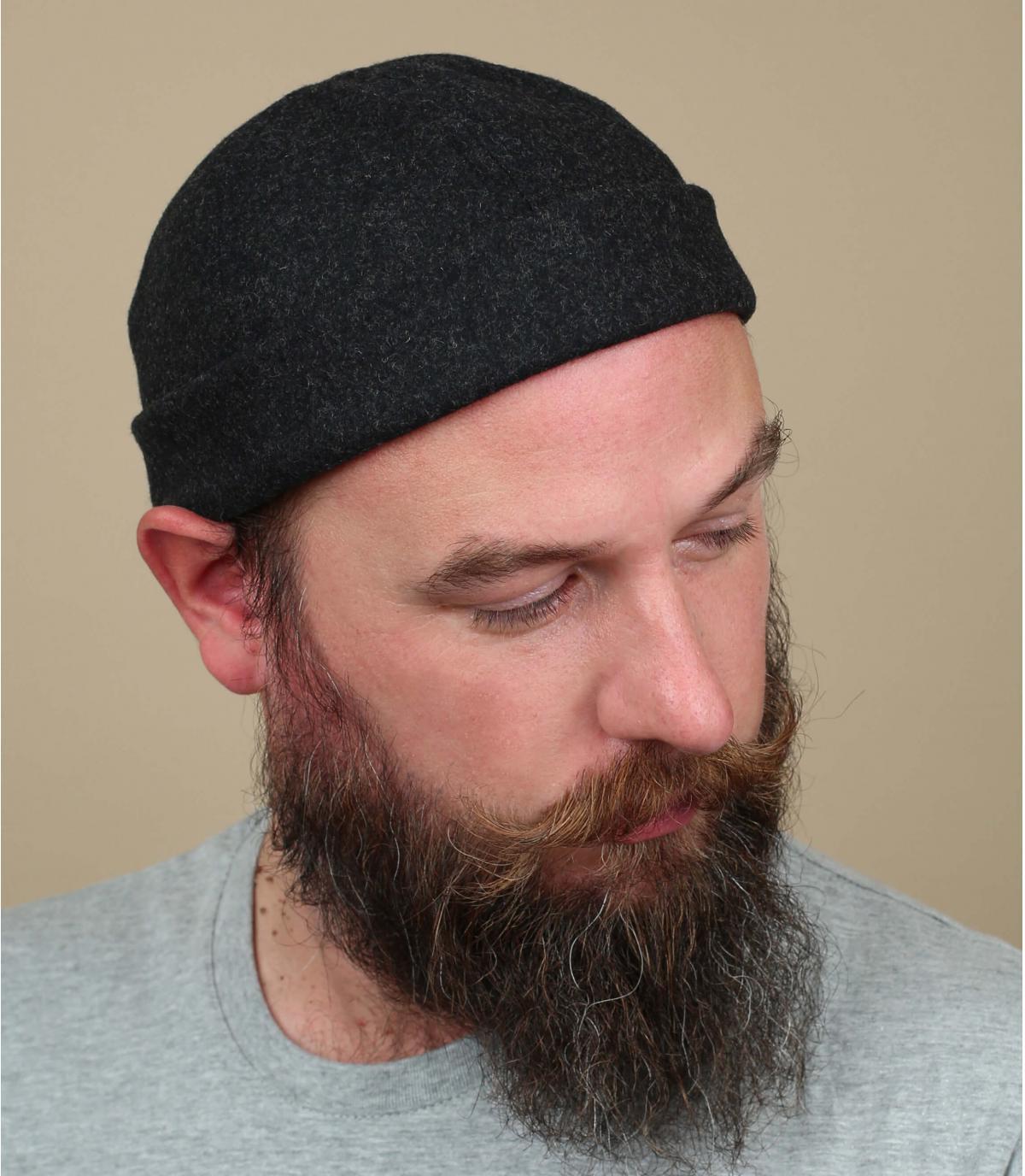 Docker Mütze grau Wolle