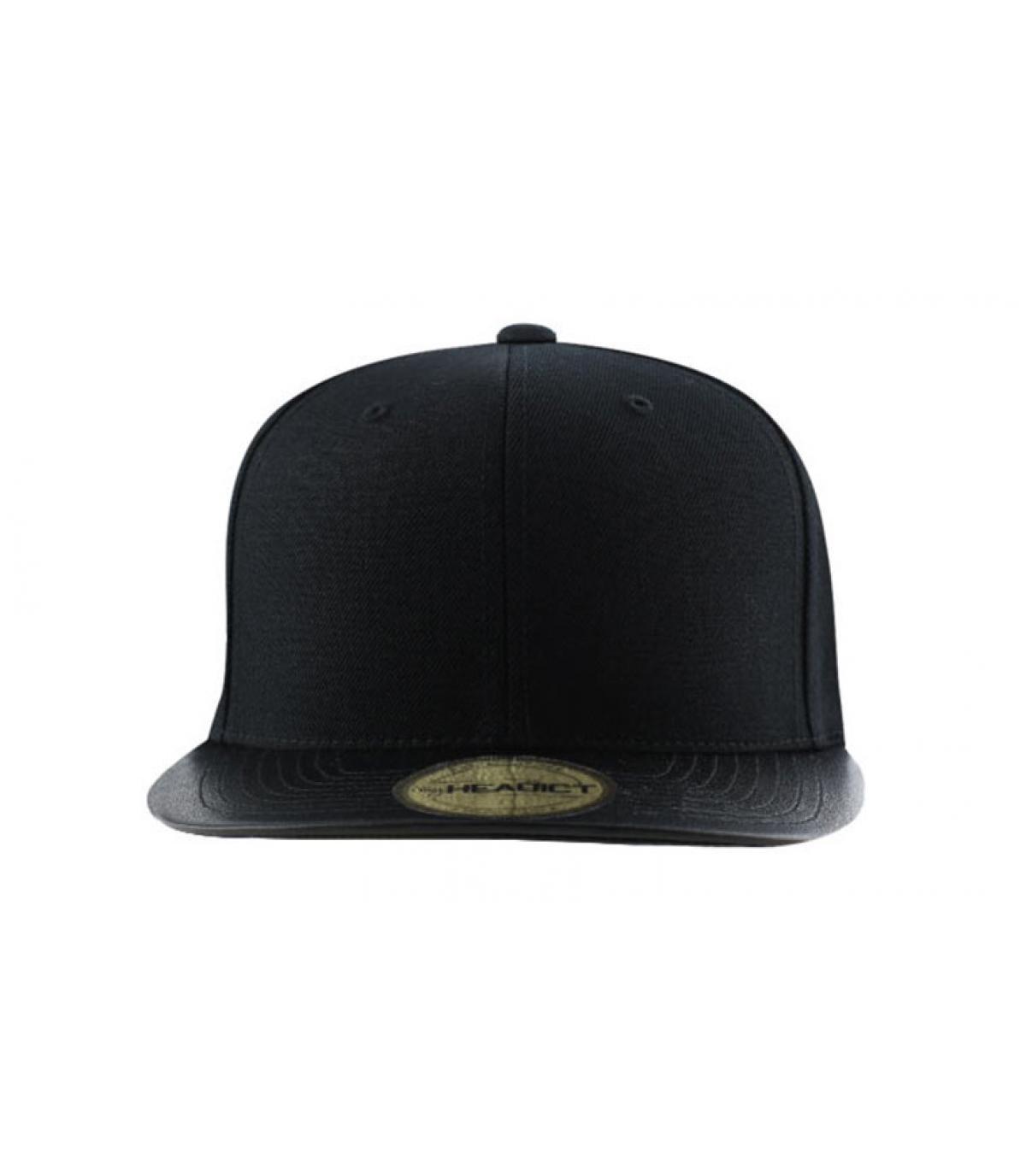 Snapback blank leather visor