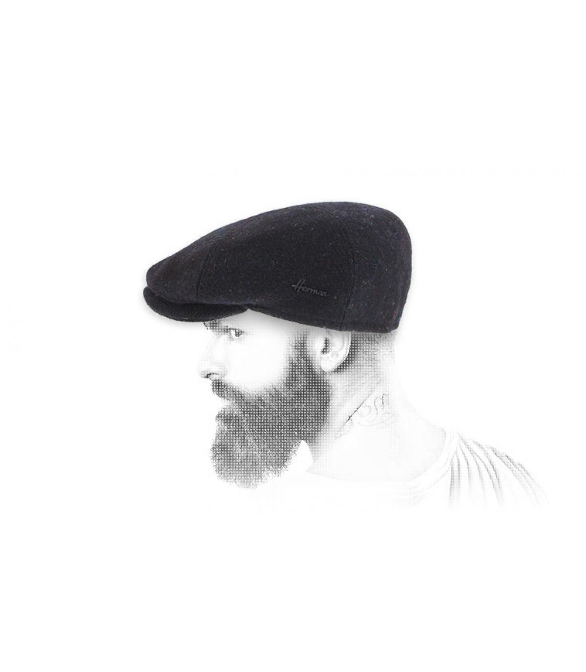 Barett schwarz Tweed Herman