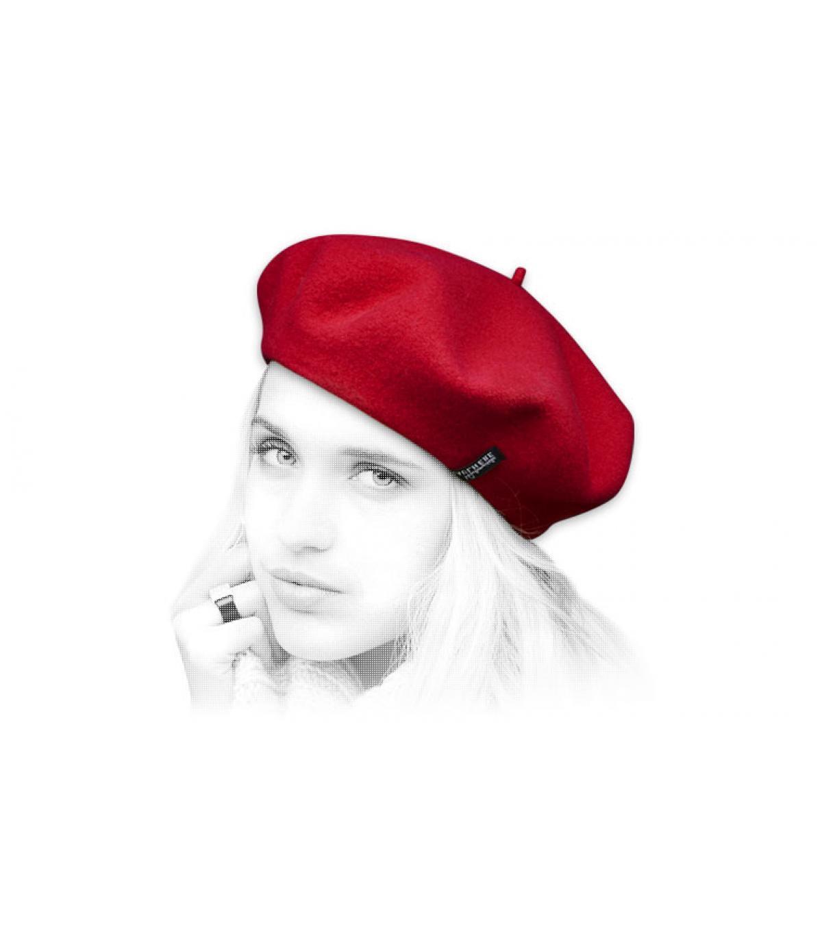 Damen Barett rot