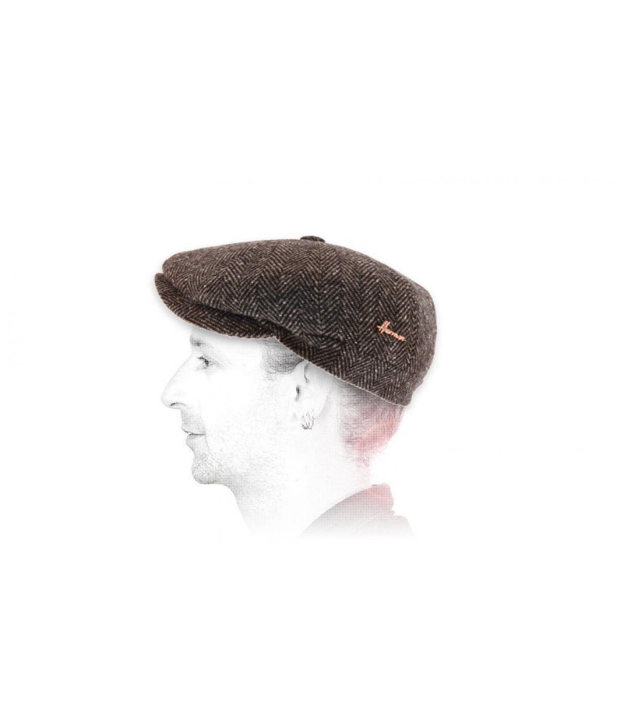 Newsboy Cap braun Wolle