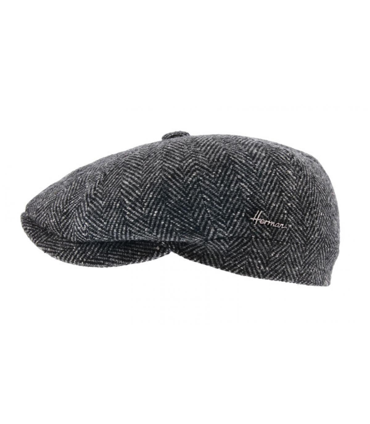 Newsboy Cap schwarz Wolle