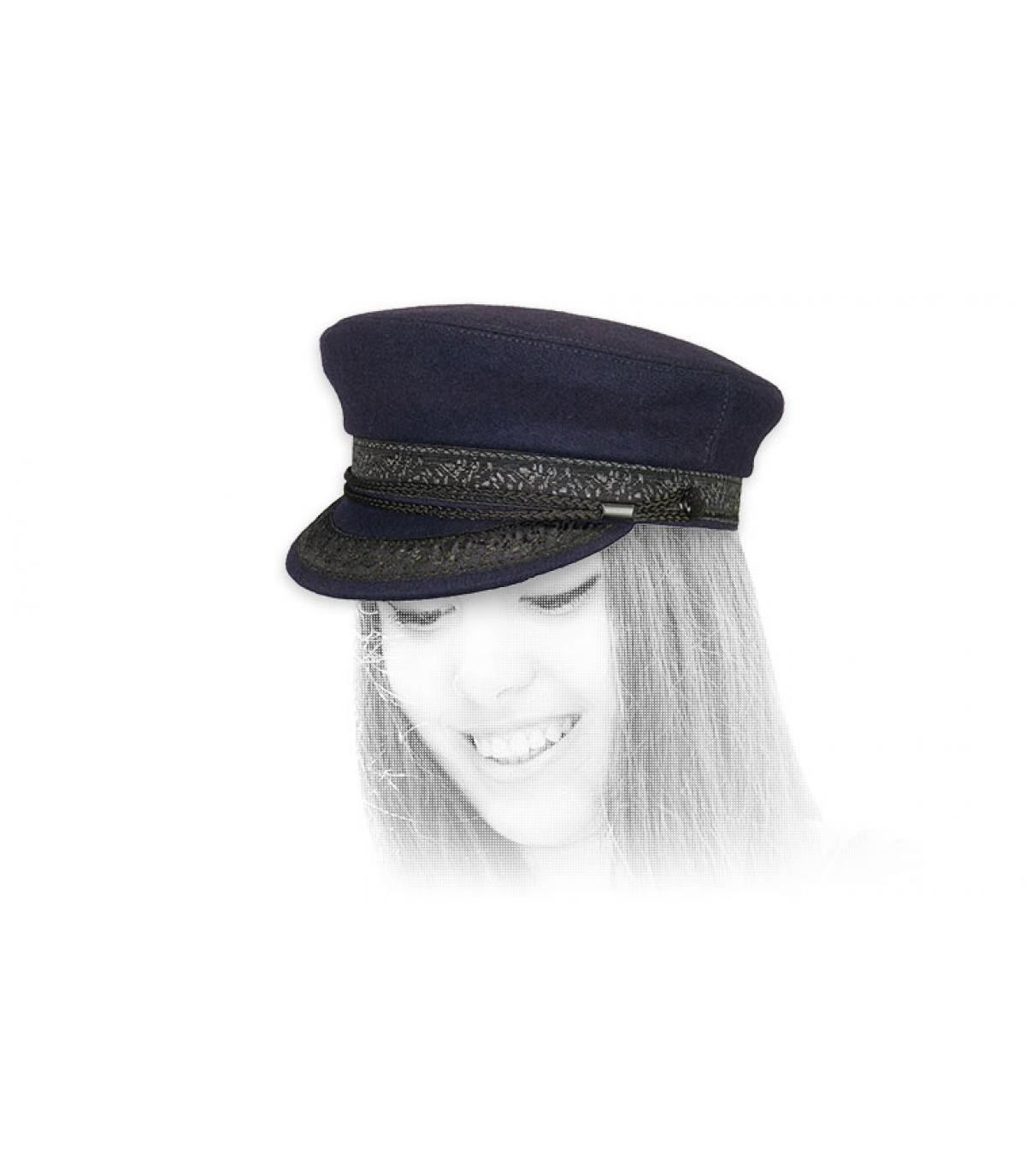 Seemanns Mütze blau Wolle
