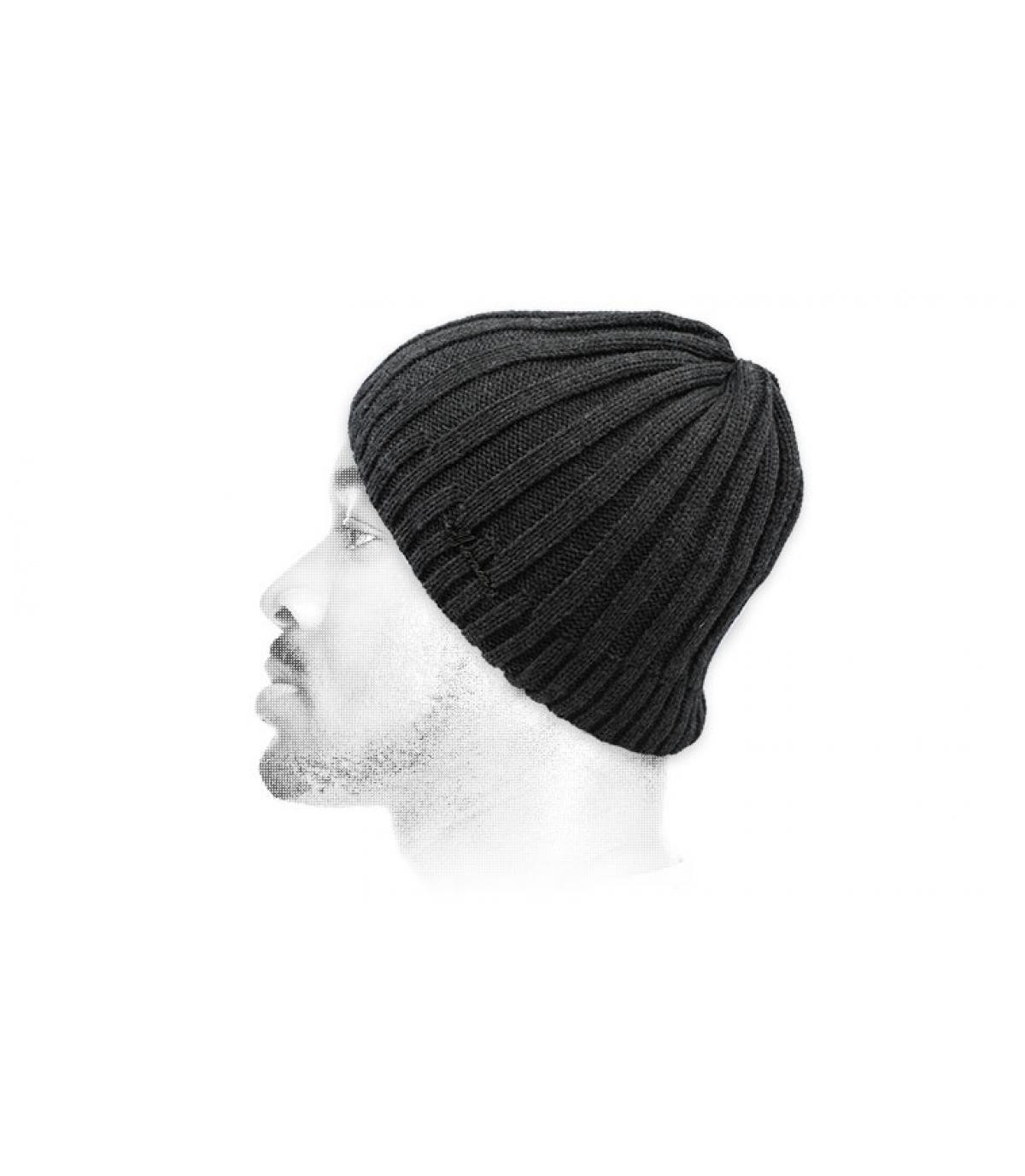 Kurze Mütze grau
