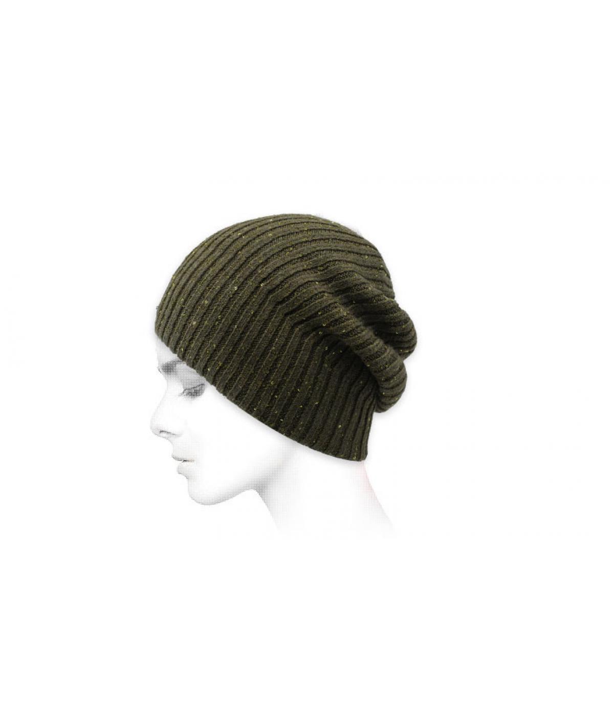 Oversize Mütze khaki grün
