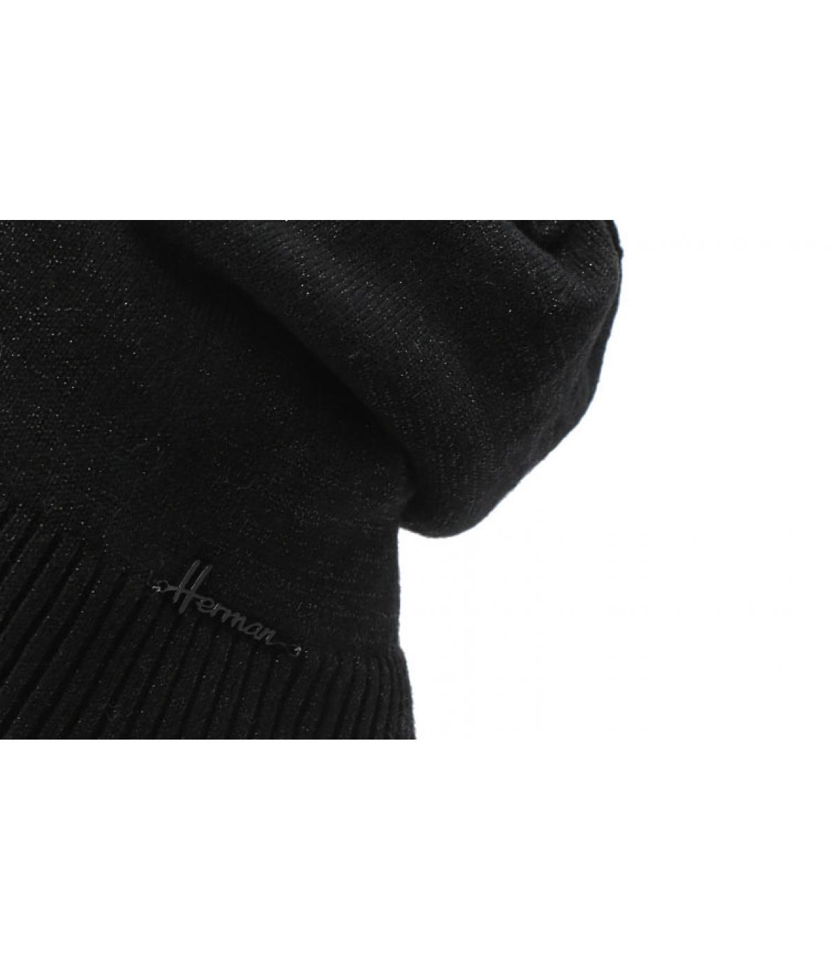 Oversize Mütze schwarz Lurex