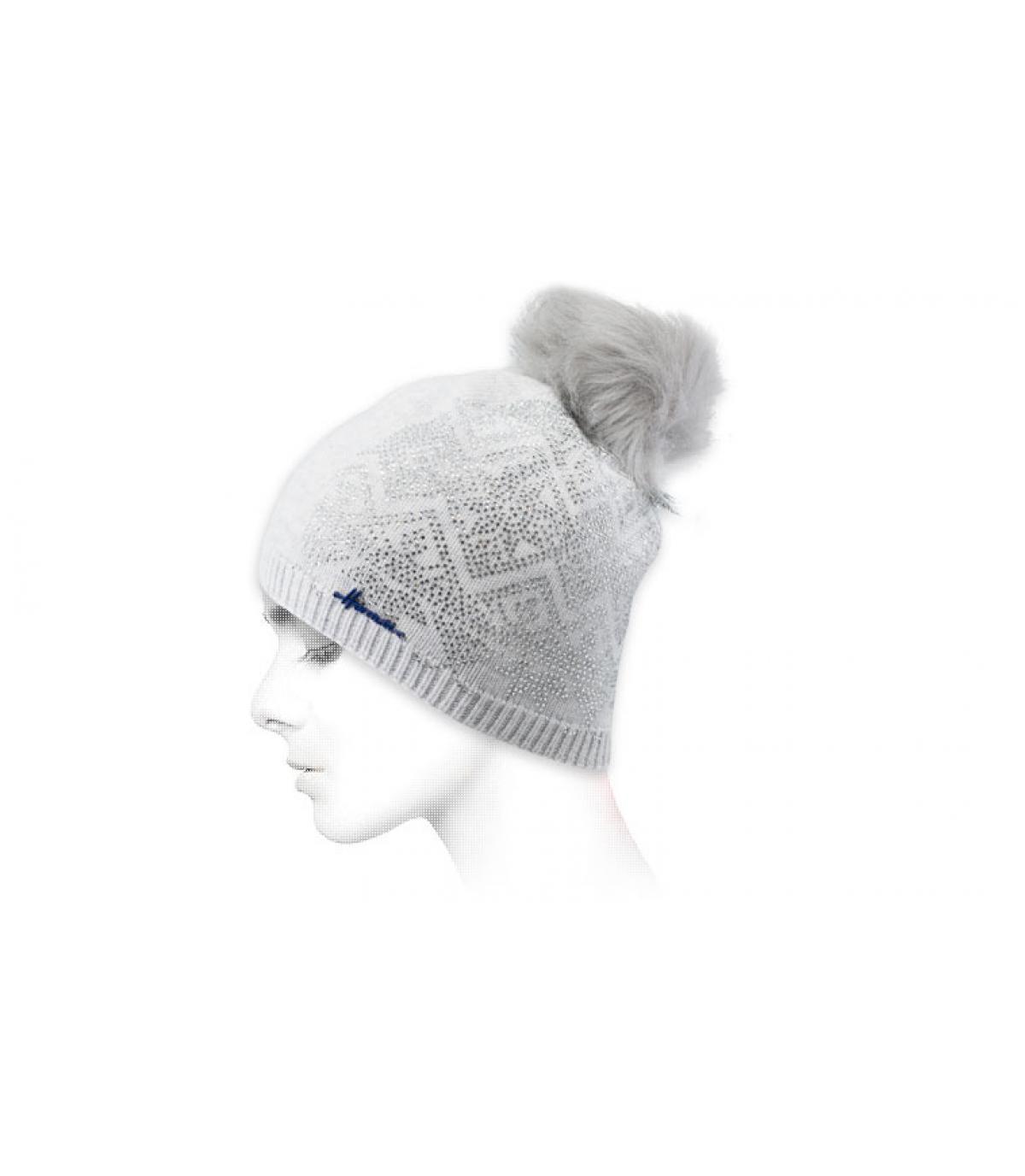 Mütze himmelblau Strass