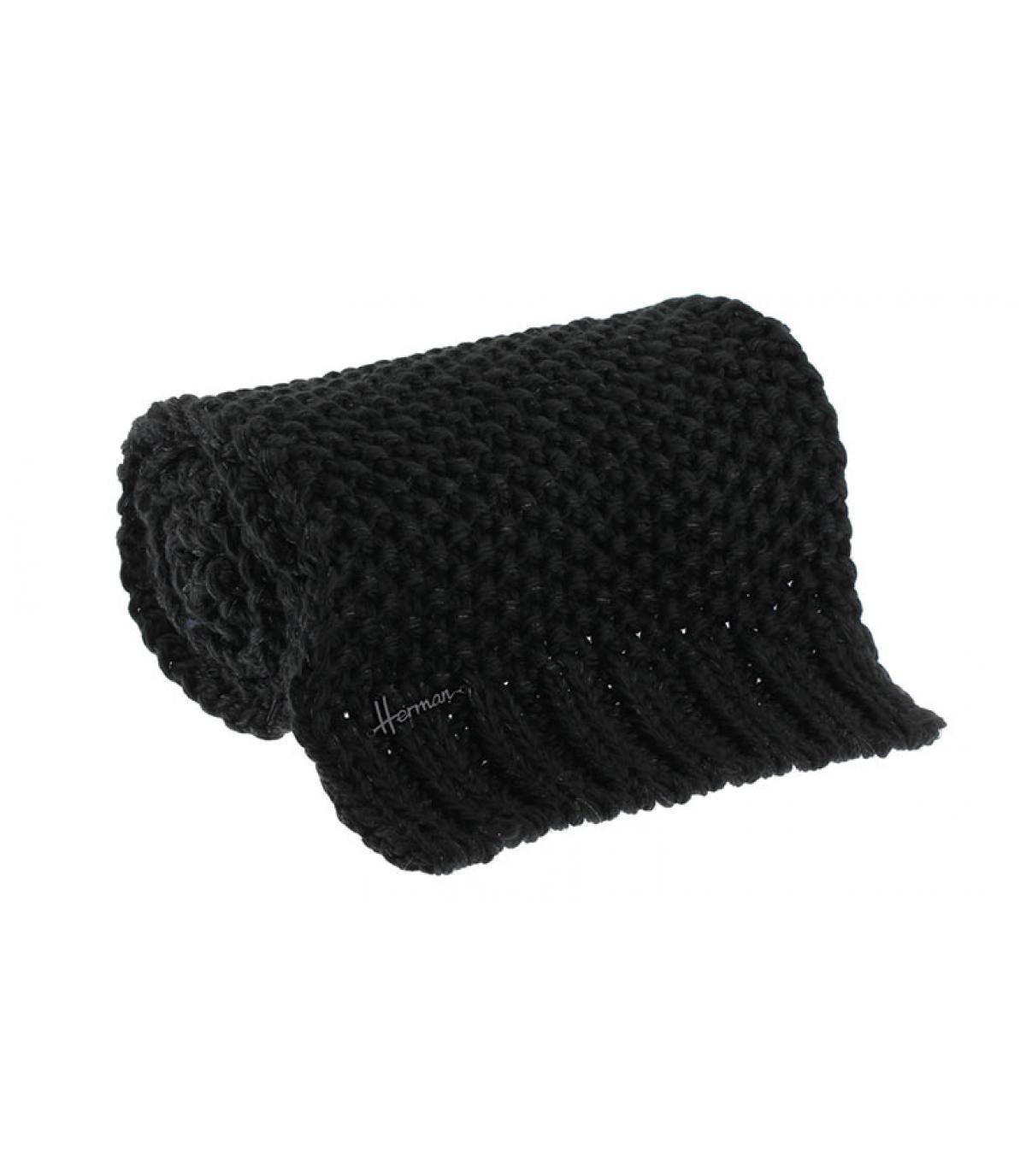 Schal schwarz Lurex