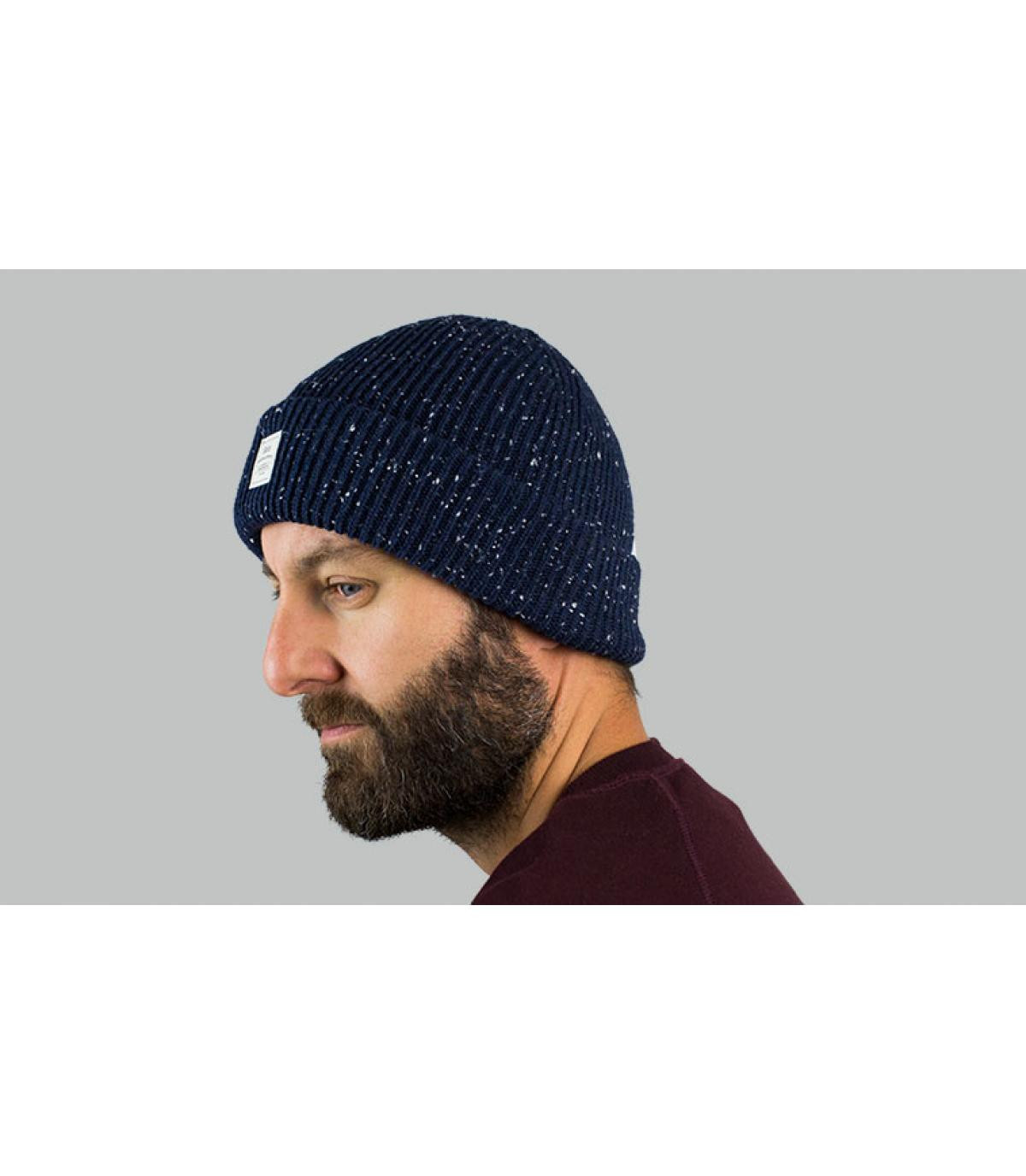 Mütze mit Rand blau Barts