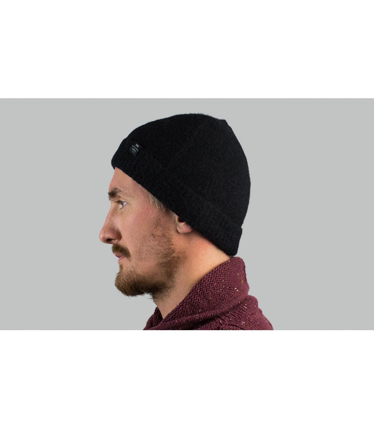 Mütze Alpaka schwarz Barts