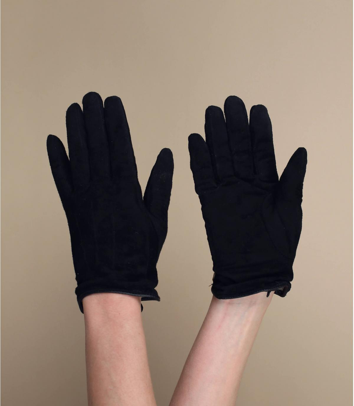 Damen Handschuhe schwarz Barts