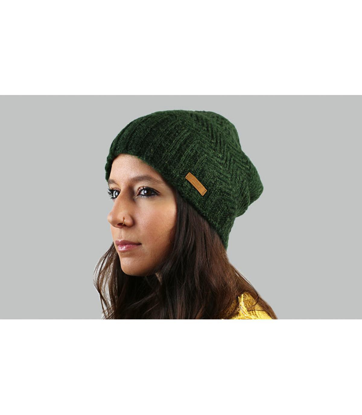 Lange Mütze grüne Barts