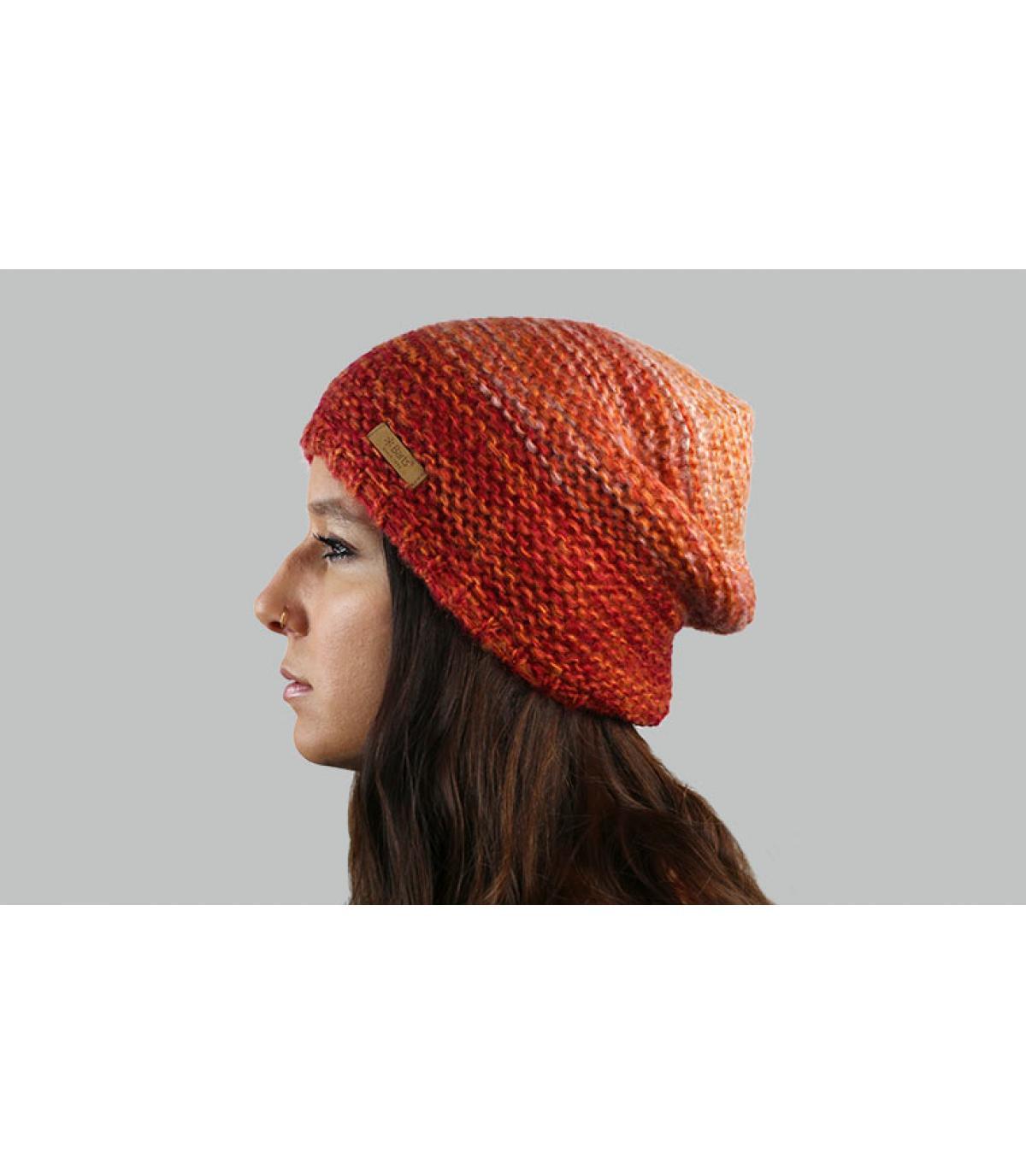 Mütze orange abgestuft