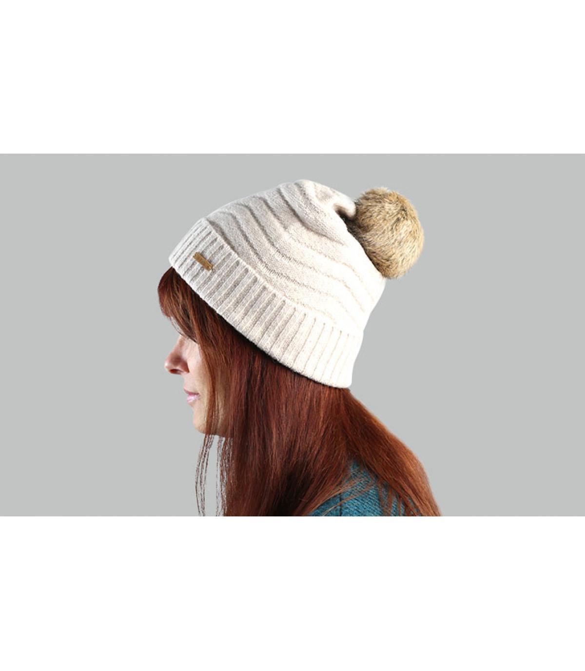 Mütze Fellbommel beige