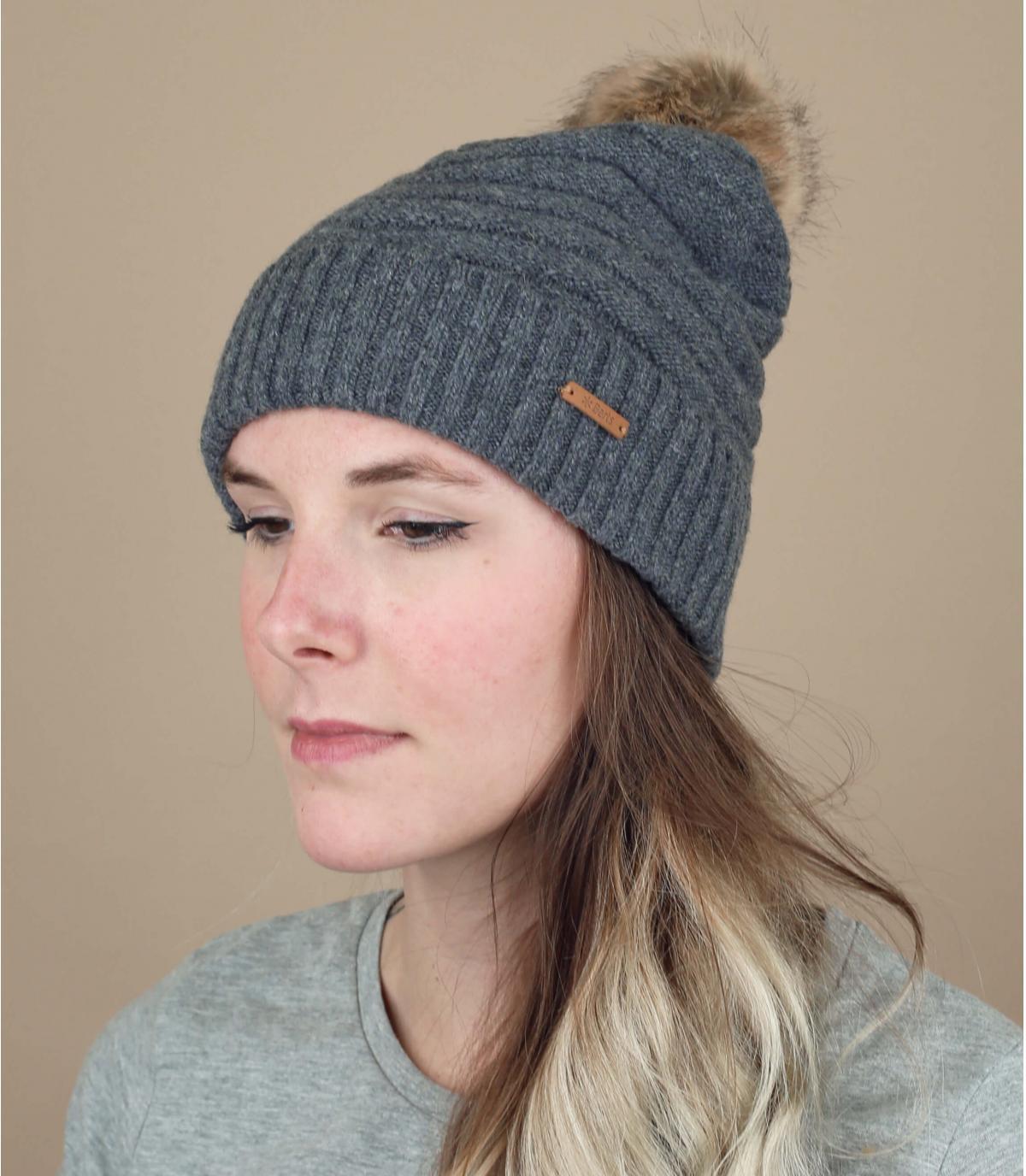 Mütze Fellbommel grau