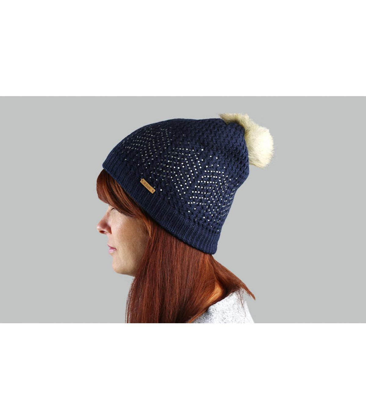 Mütze Fellbommel blau