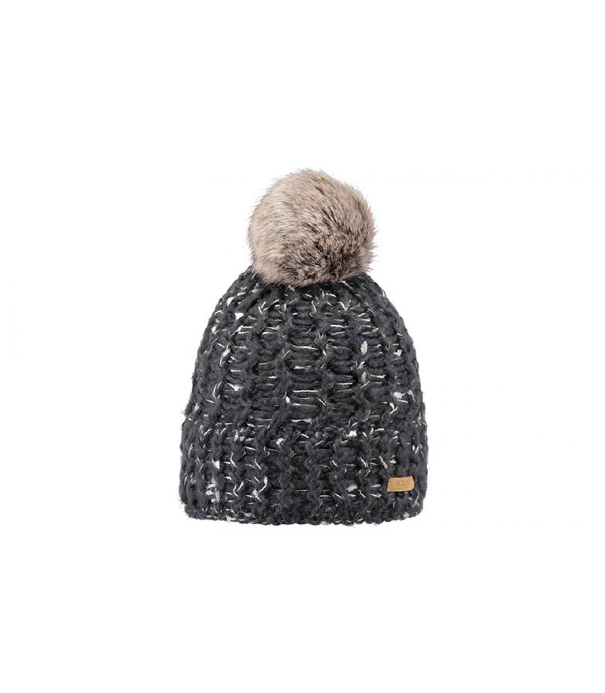 Mütze grau meliert Fellbommel