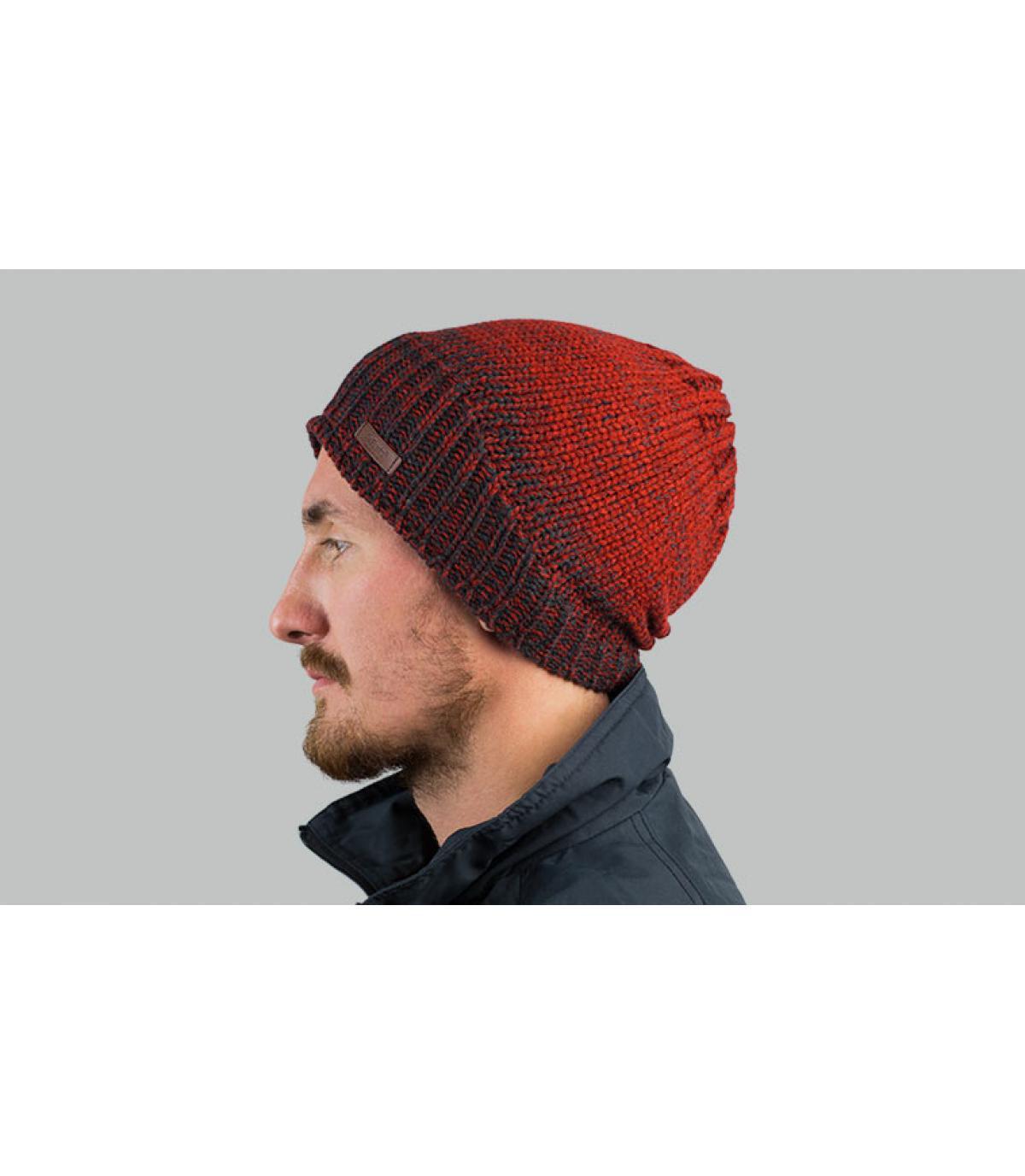 Lange Mütze Abstufung bordeaux
