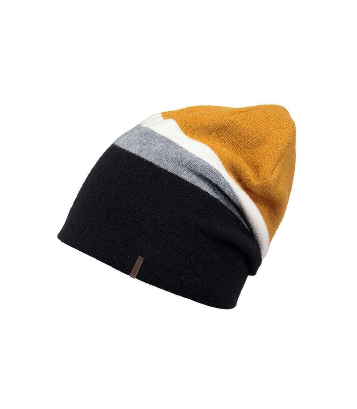 Oversize Mütze schwarz gelb
