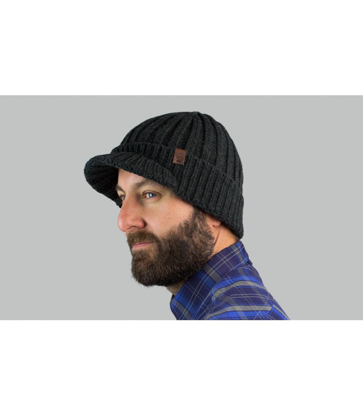 Schirmmütze grau Barts