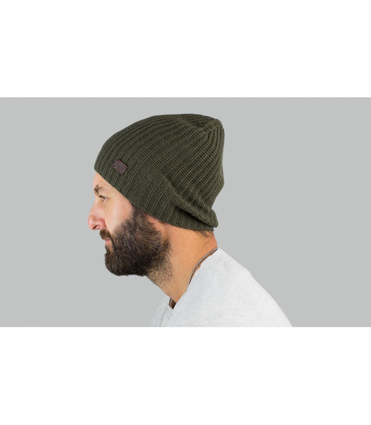 Oversize Mütze Kaschmir grün