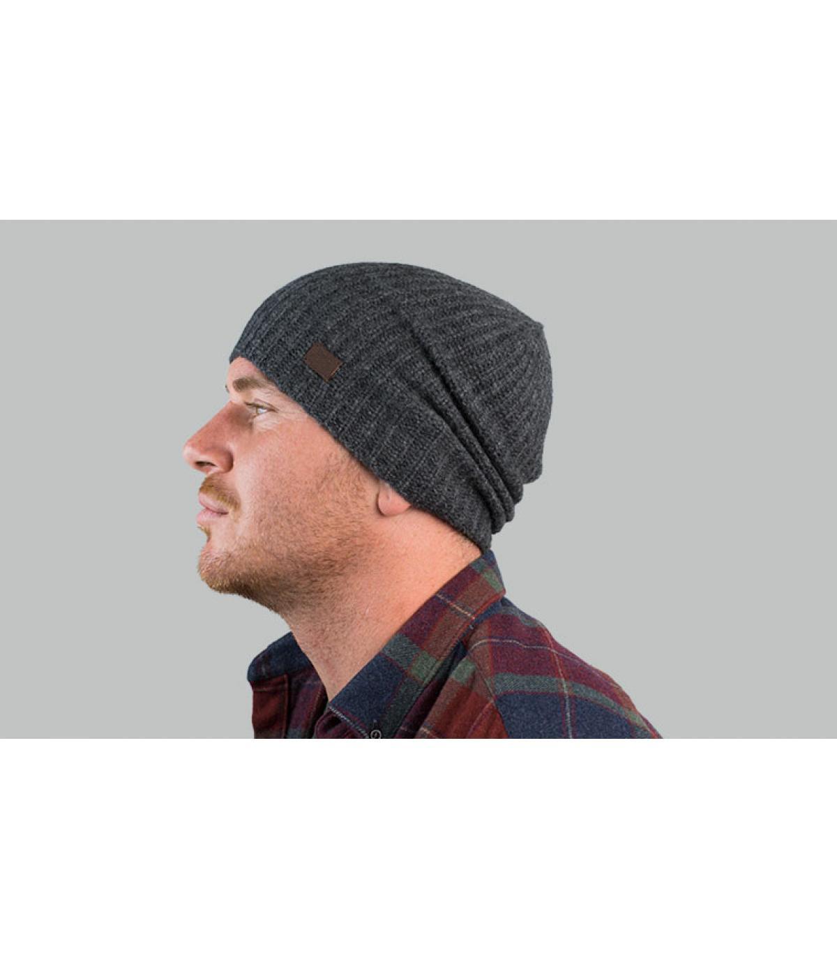 Oversize Mütze Kaschmir grau