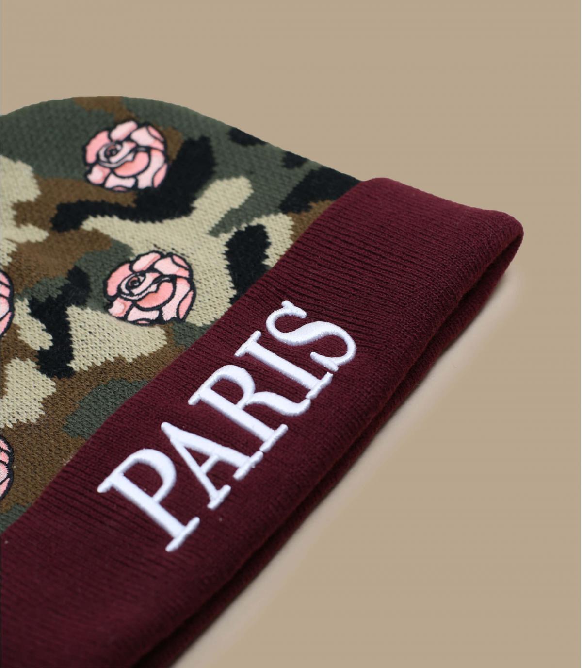 Details Mütze Le Parisien geblümt - Abbildung 3