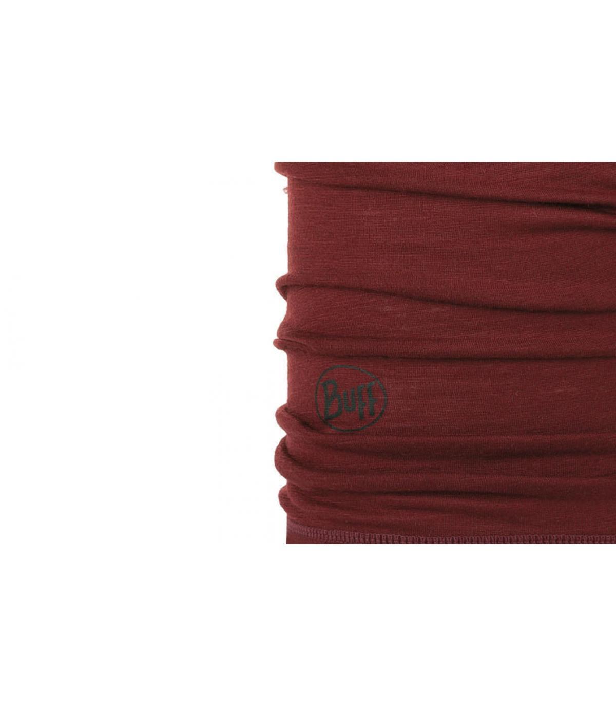 Details Lightweight Merino Wool solid wine - Abbildung 2