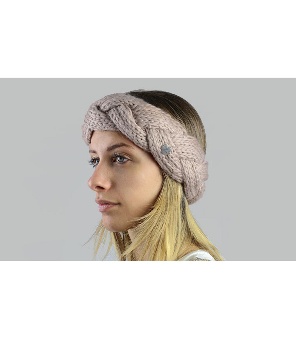 Beigefarbene plaited Kopfband