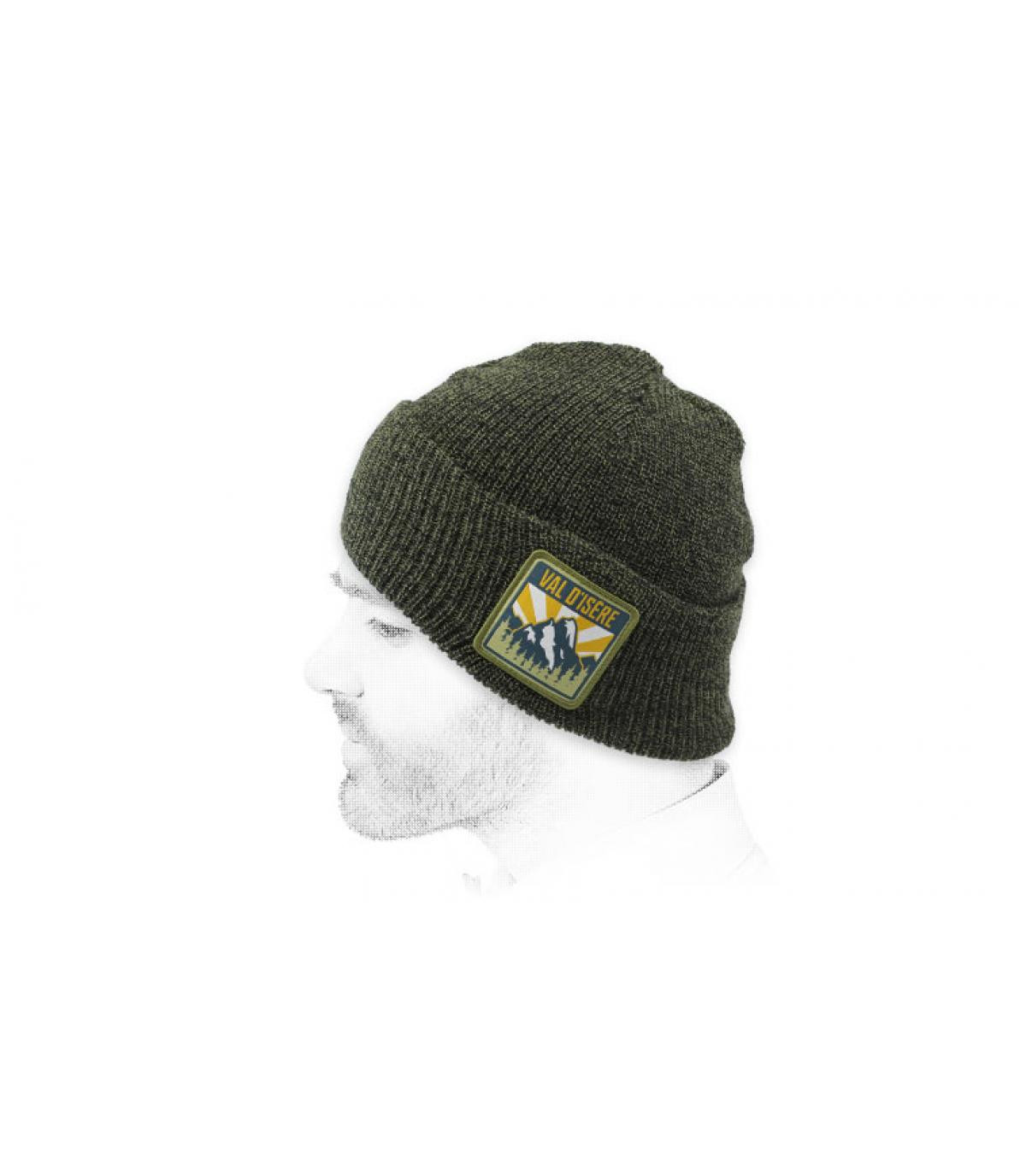 Mütze Val-d'Isère grün