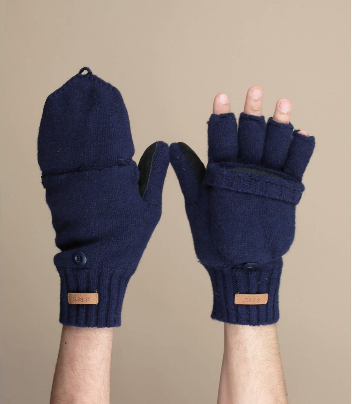 Blaue Fäustlinge Handschuhe