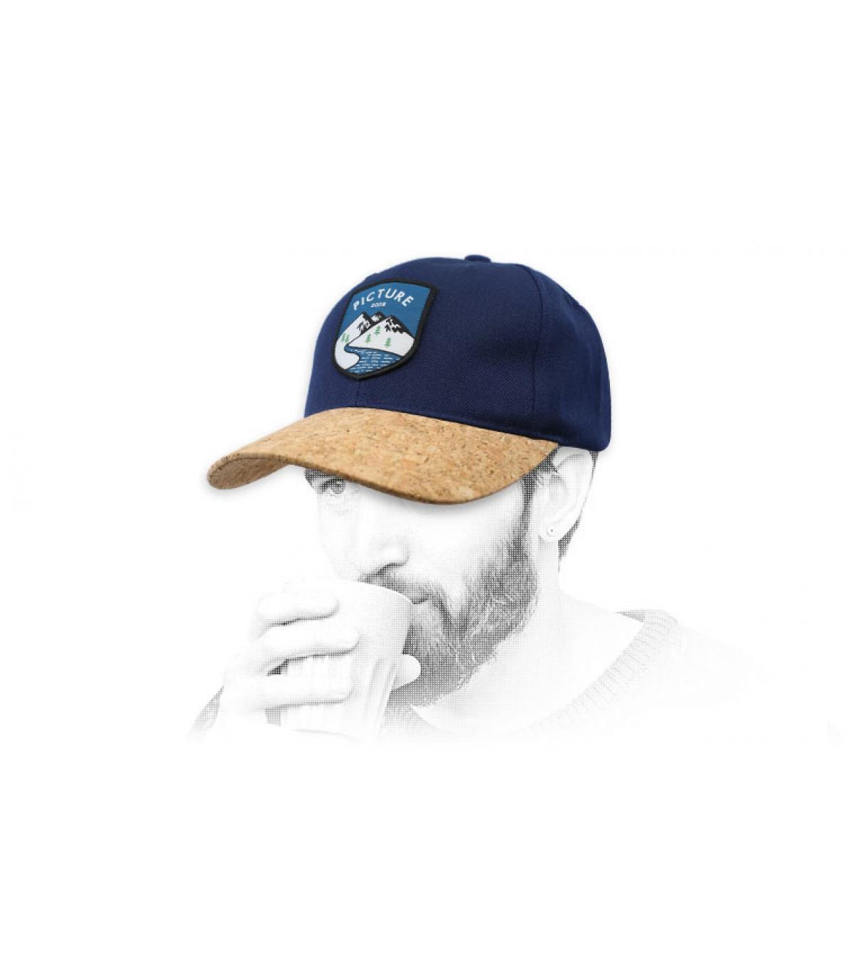 Cap Picture blau Kork