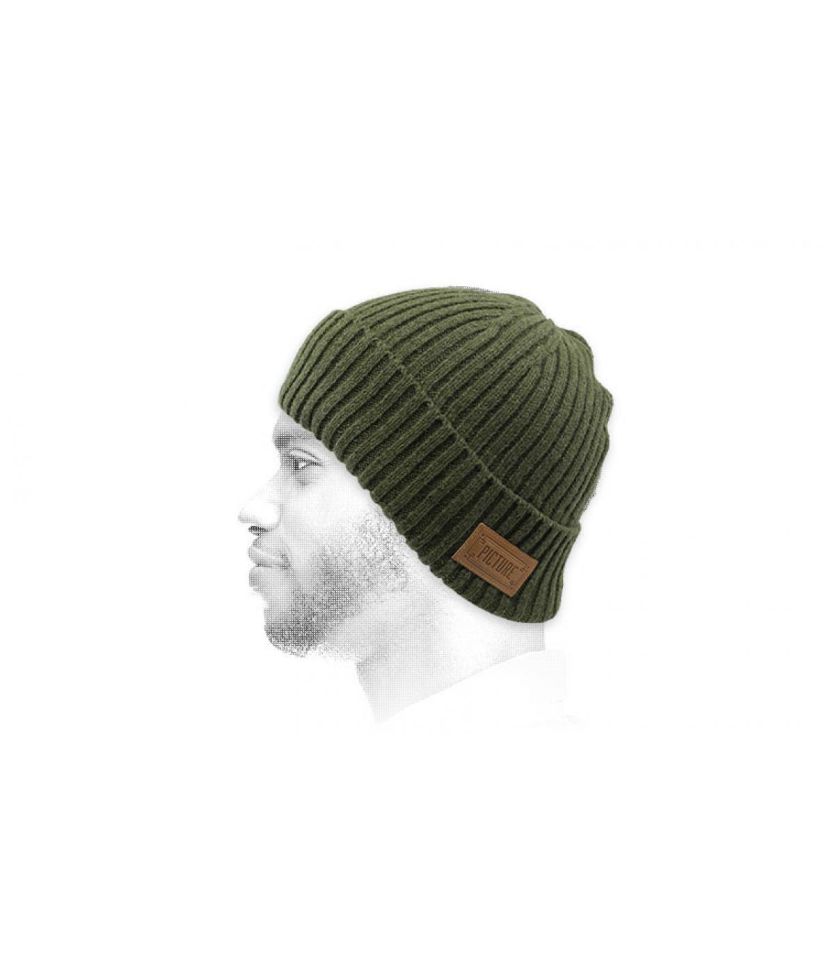 Mütze mit Rand grün Picture