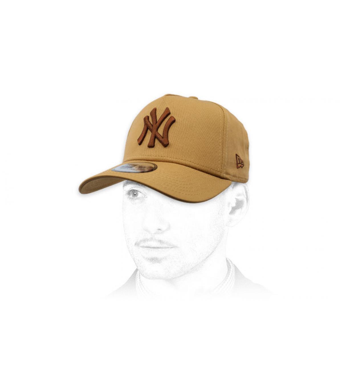 Cap NY beige Aframe