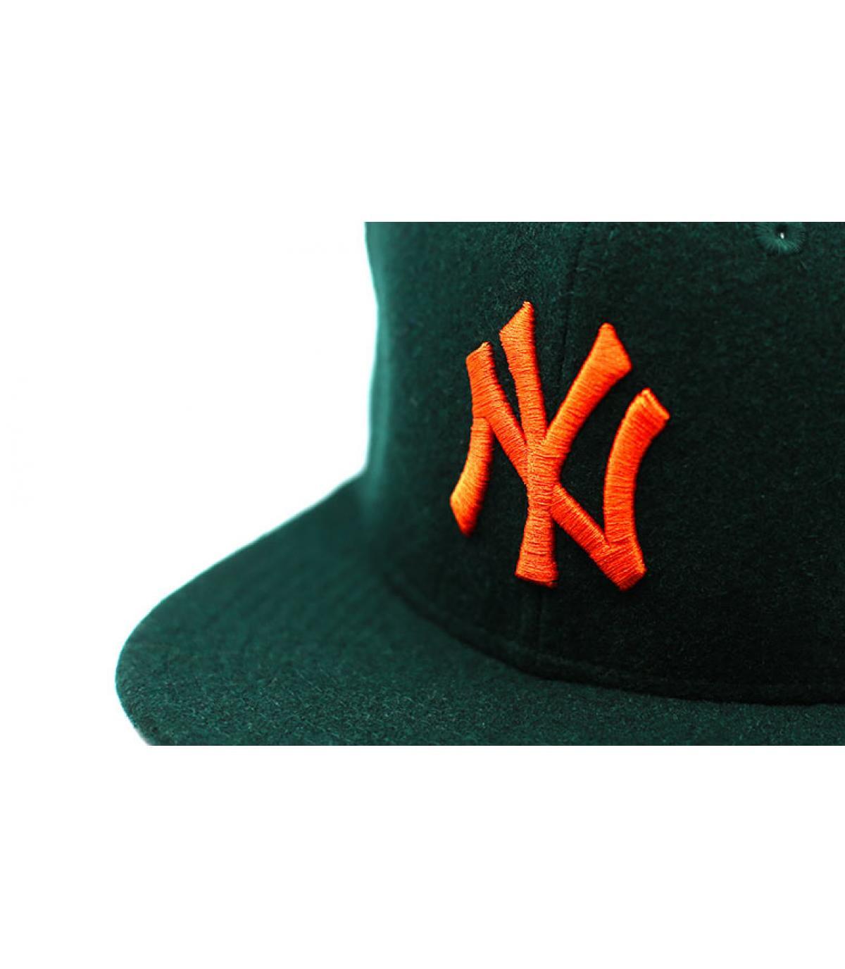 Details Snapback Winter Utility NY Melton 9Fifty dark green orange - Abbildung 3