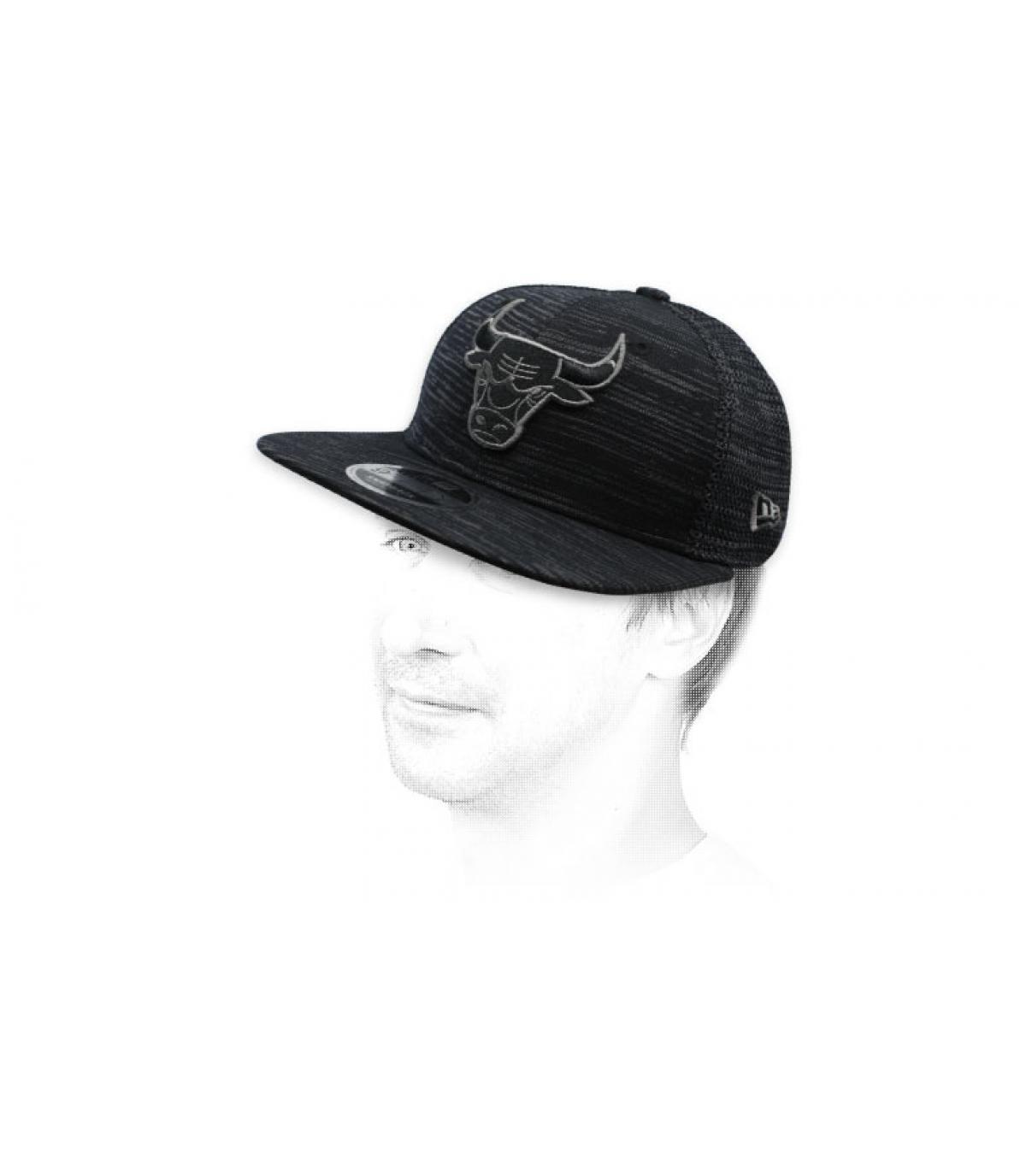 snapback Bulls schwarz Engineered