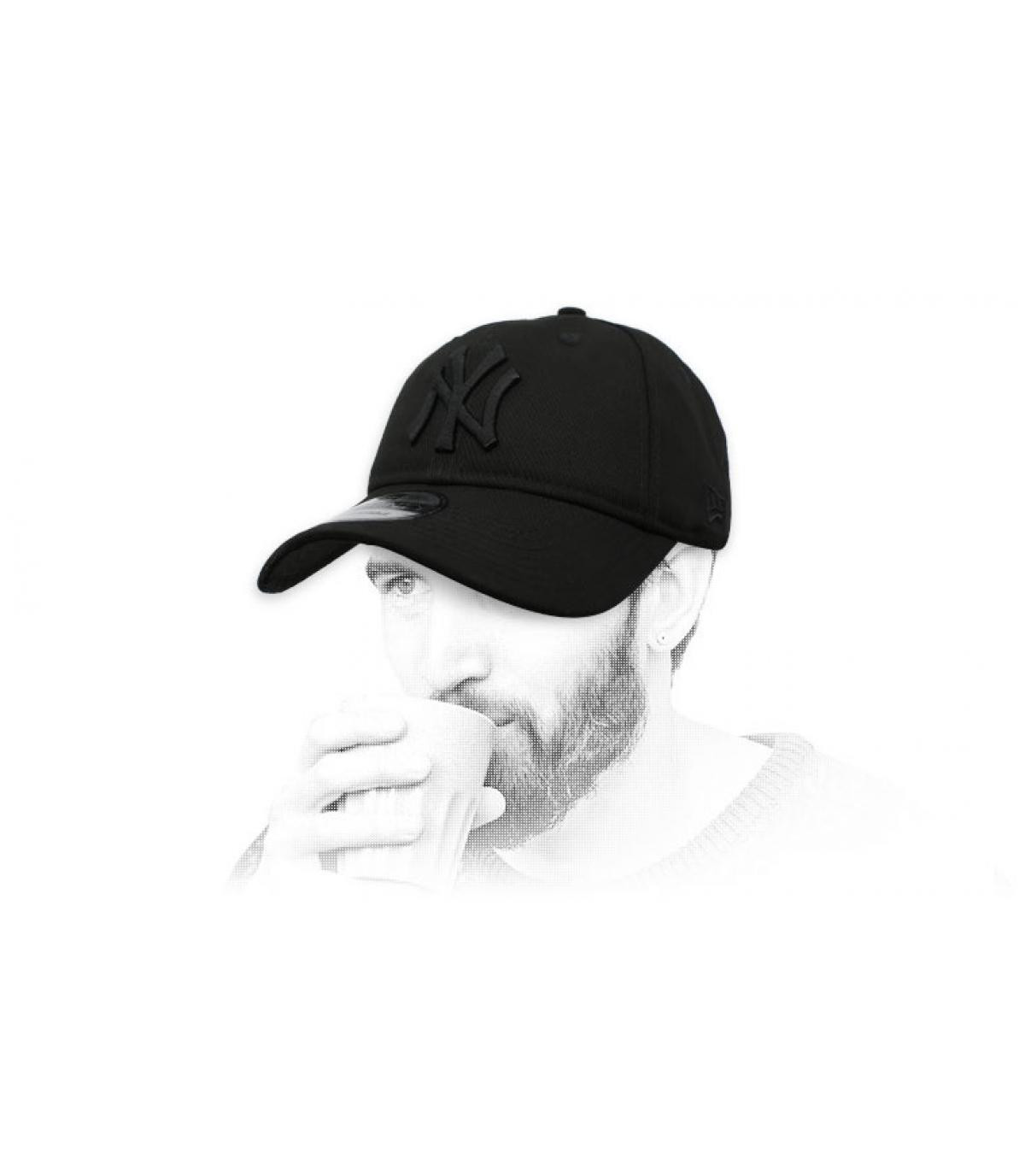 Cap NY schwarz faltbar