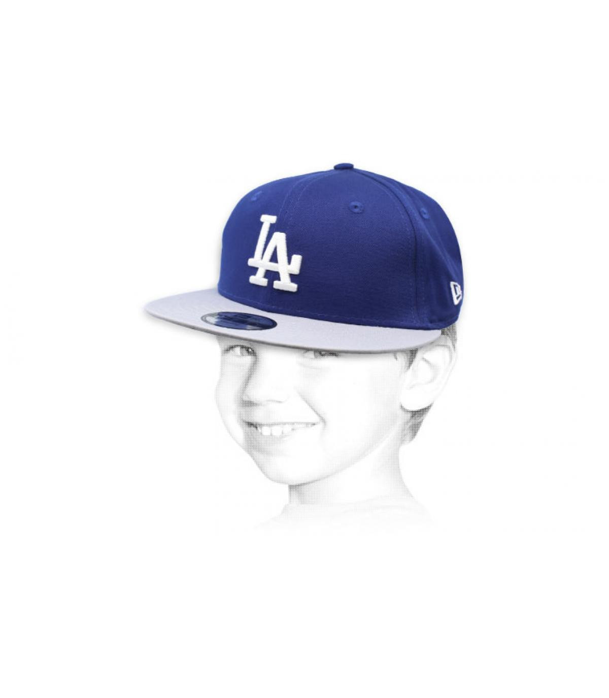 Kinder Snapback LA blau grau