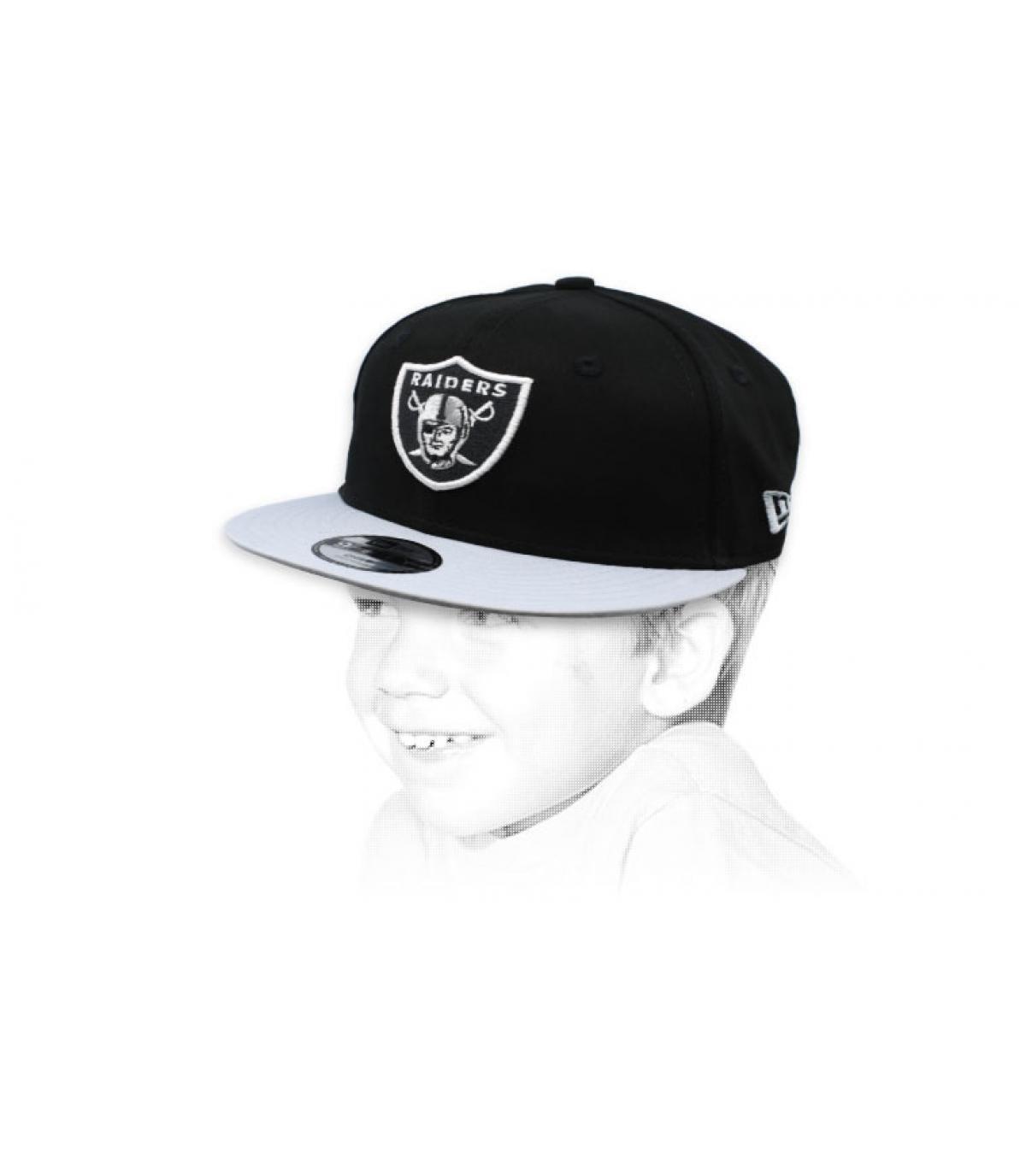 Kinder Snapback Raiders schwarz