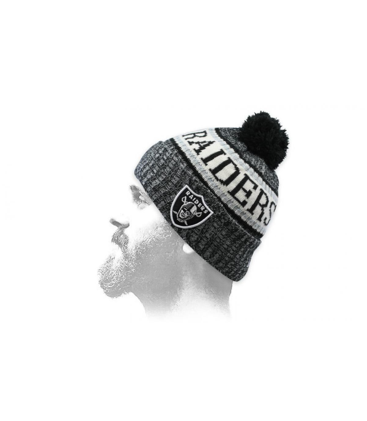 Bommel Mütze Raiders grau