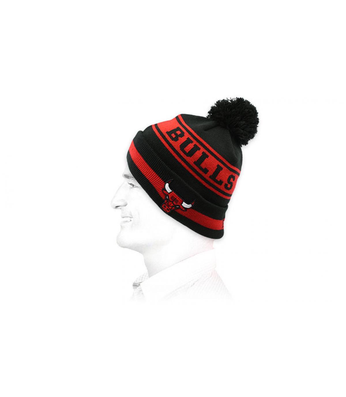 Mütze Bulls schwarz rot
