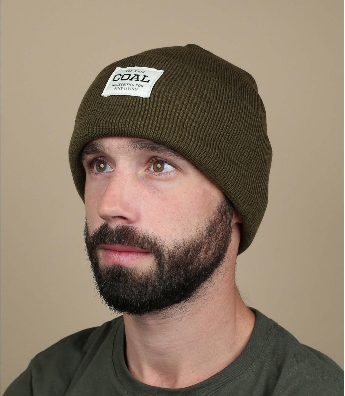 Mütze mit Rever grün Coal