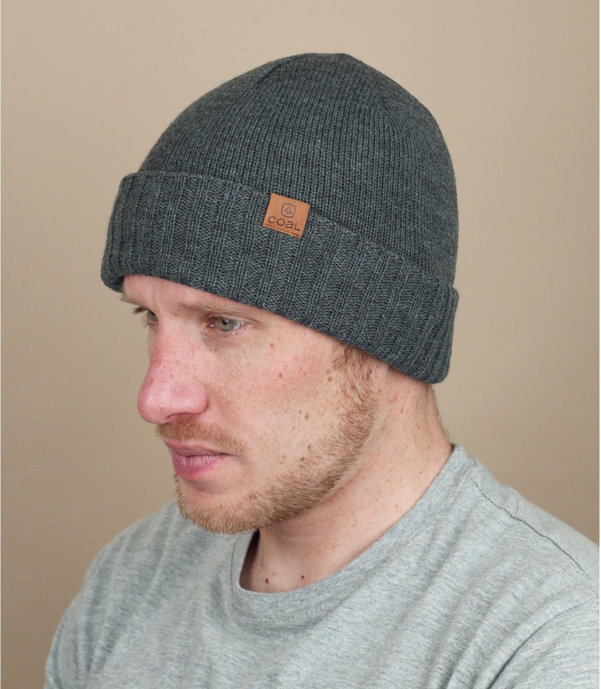Mütze mit Rand grau Coal