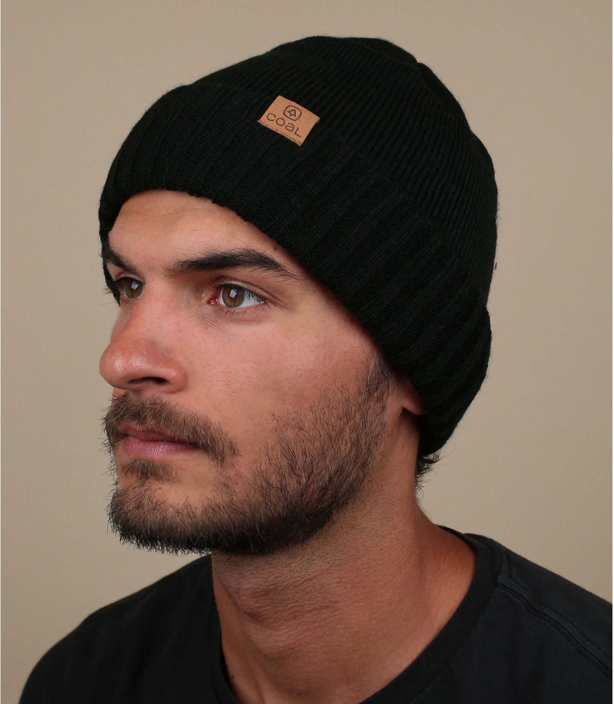 Mütze mit Rand schwarz Coal