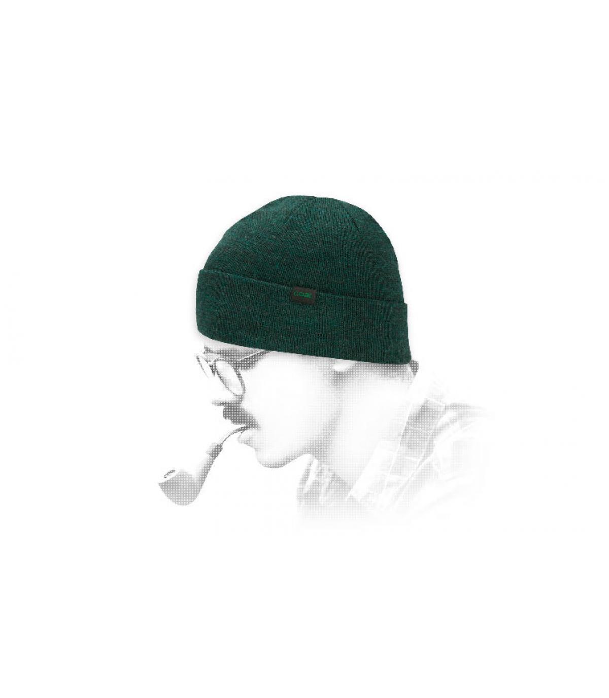 Mütze Coal Wolle grün