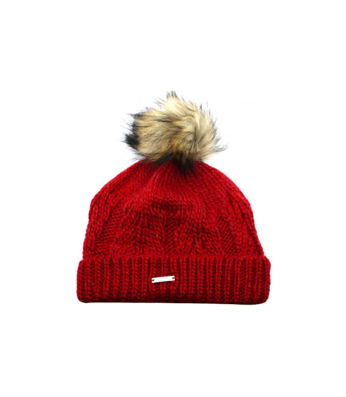 Mütze rot Fellbommel